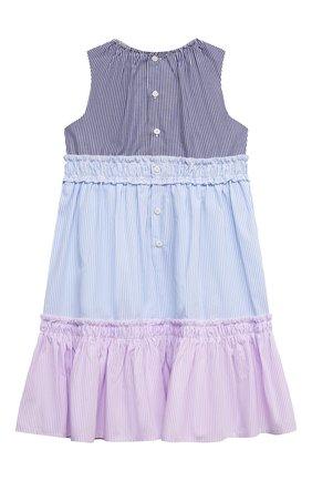 Детское хлопковое платье IL GUFO разноцветного цвета, арт. P21VA265C1052/2A-4A   Фото 2
