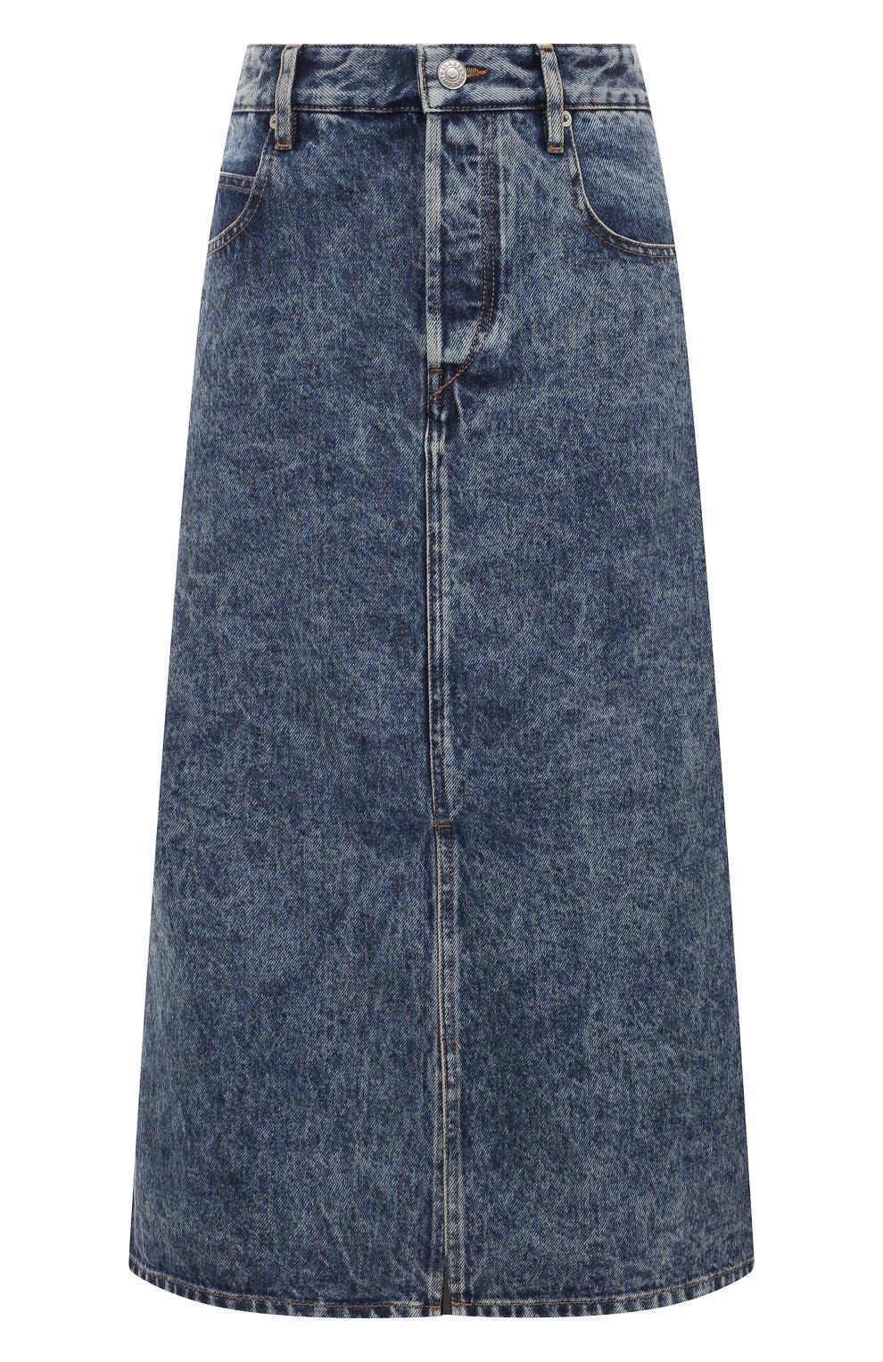 Женская джинсовая юбка ISABEL MARANT ETOILE синего цвета, арт. JU1245-21P019E/LAURINA   Фото 1