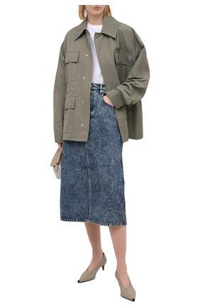 Женская джинсовая юбка ISABEL MARANT ETOILE синего цвета, арт. JU1245-21P019E/LAURINA   Фото 2