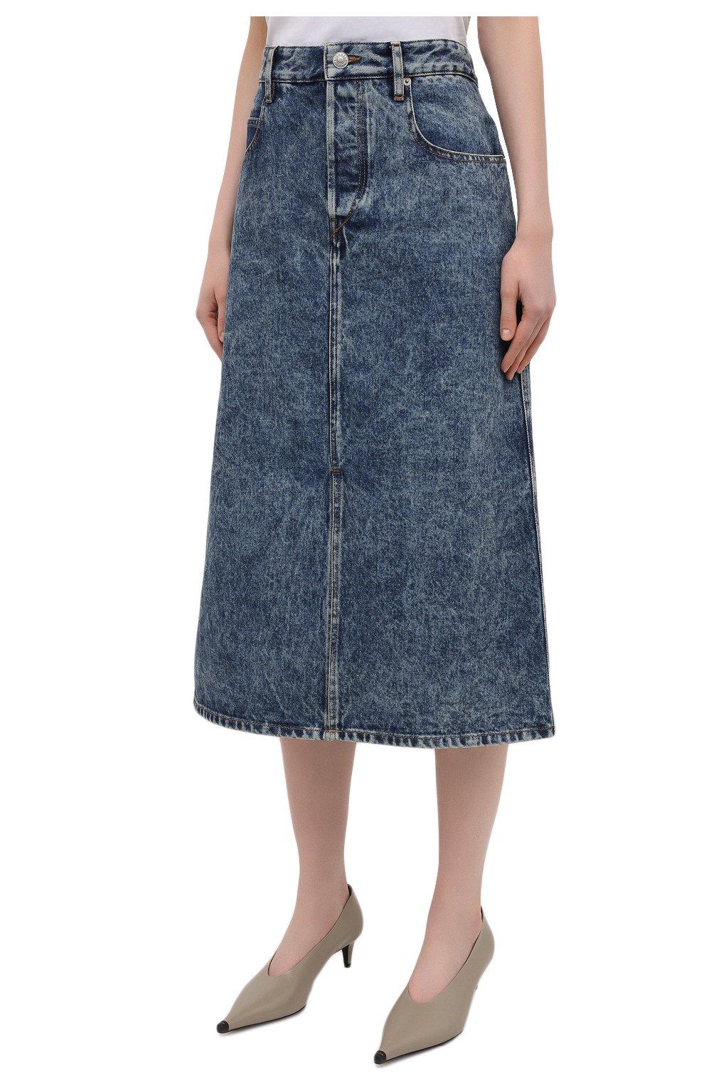 Женская джинсовая юбка ISABEL MARANT ETOILE синего цвета, арт. JU1245-21P019E/LAURINA   Фото 3