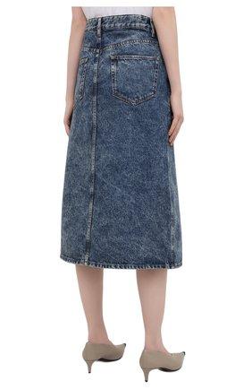Женская джинсовая юбка ISABEL MARANT ETOILE синего цвета, арт. JU1245-21P019E/LAURINA   Фото 4