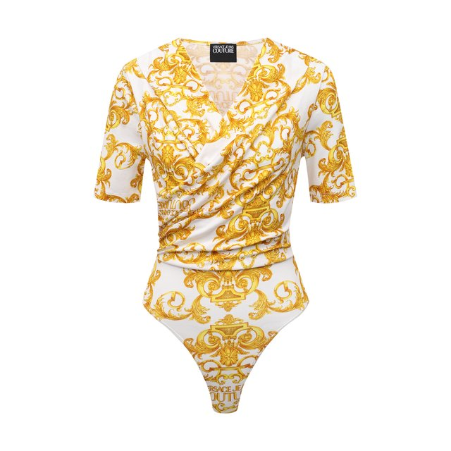 Хлопковое боди Versace Jeans Couture