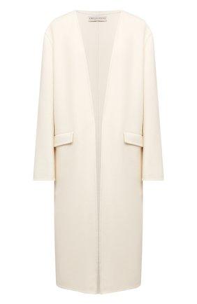Женское шерстяное пальто EMILIO PUCCI белого цвета, арт. 1ERA15/1E604 | Фото 1