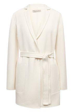 Женское шерстяное пальто EMILIO PUCCI белого цвета, арт. 1ERA10/1E604 | Фото 1