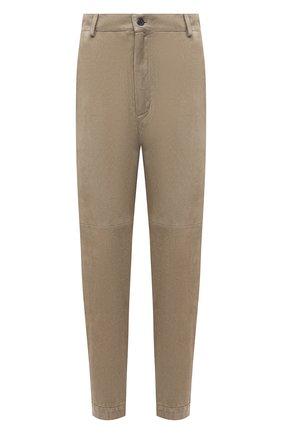 Женские замшевые брюки SIMONETTA RAVIZZA хаки цвета, арт. S01PS04S1/333 | Фото 1