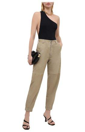 Женские замшевые брюки SIMONETTA RAVIZZA хаки цвета, арт. S01PS04S1/333 | Фото 2