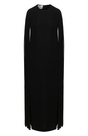 Женское шелковое платье VALENTINO черного цвета, арт. VB0VAVD01MM | Фото 1