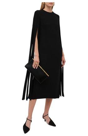 Женское шелковое платье VALENTINO черного цвета, арт. VB0VAVD01MM | Фото 2