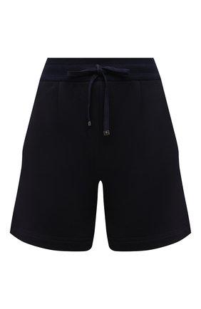 Женские шорты из хлопка и кашемира KITON темно-синего цвета, арт. D51110AK09T22 | Фото 1