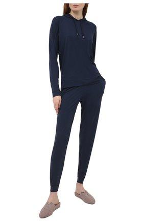 Женская худи DEREK ROSE синего цвета, арт. 1232-BASE001 | Фото 2
