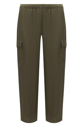 Женские шелковые брюки THEORY хаки цвета, арт. L0202218 | Фото 1
