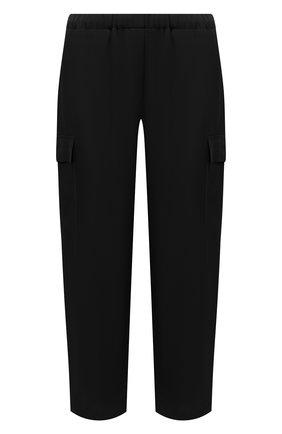 Женские шелковые брюки THEORY черного цвета, арт. L0202218 | Фото 1
