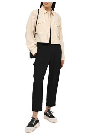 Женские шелковые брюки THEORY черного цвета, арт. L0202218 | Фото 2
