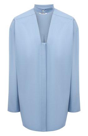 Женская хлопковая рубашка AMBUSH голубого цвета, арт. BWGA008S21FAB001   Фото 1