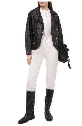 Женская кожаная куртка ISABEL MARANT черного цвета, арт. VE1591-21E001I/ANEPAL | Фото 2