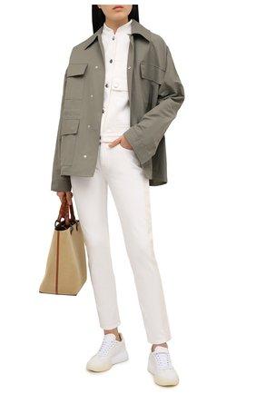 Женская джинсовая куртка STELLA MCCARTNEY белого цвета, арт. 602893/S0H40 | Фото 2