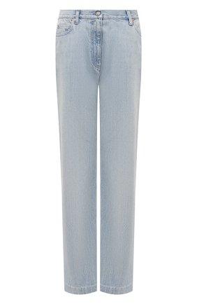 Женские джинсы GUCCI голубого цвета, арт. 644707/XDBLG | Фото 1 (Длина (брюки, джинсы): Стандартные; Материал внешний: Хлопок; Силуэт Ж (брюки и джинсы): Широкие; Кросс-КТ: Деним; Стили: Кэжуэл)