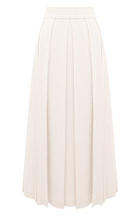 Женская юбка из кашемира и шелка LORO PIANA белого цвета, арт. FAL5239 | Фото 1