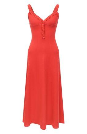 Женское платье из шелка и хлопка LORO PIANA кораллового цвета, арт. FAL5250 | Фото 1