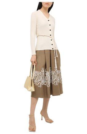 Женская льняная юбка LORO PIANA коричневого цвета, арт. FAL5864 | Фото 2