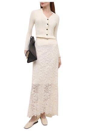 Женская юбка PACO RABANNE кремвого цвета, арт. 20HJJU167PA0170 | Фото 2