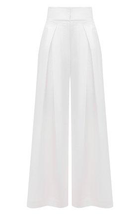 Женские брюки BRUNELLO CUCINELLI белого цвета, арт. MH174P7509 | Фото 1
