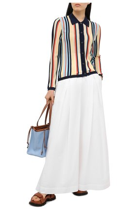 Женские брюки BRUNELLO CUCINELLI белого цвета, арт. MH174P7509 | Фото 2