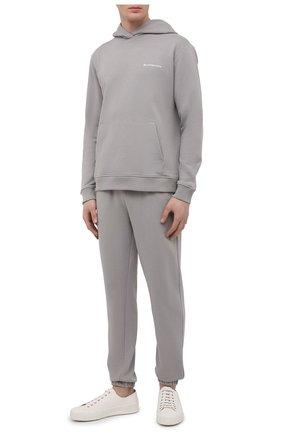 Мужской хлопковый спортивный костюм SEVEN LAB серого цвета, арт. 66HP21-#cr grey   Фото 1