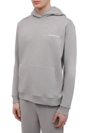 Мужской хлопковый спортивный костюм SEVEN LAB серого цвета, арт. 66HP21-#cr grey   Фото 2