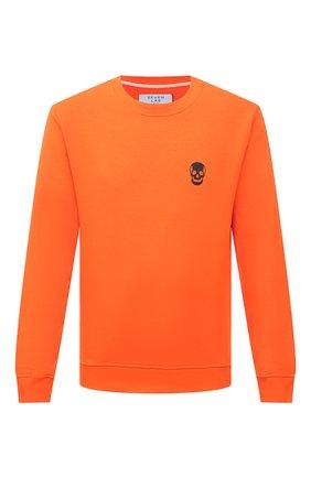 Мужской хлопковый свитшот SEVEN LAB оранжевого цвета, арт. 66SW21-1sk orange | Фото 1