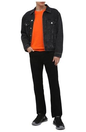 Мужской хлопковый свитшот SEVEN LAB оранжевого цвета, арт. 66SW21-1sk orange | Фото 2