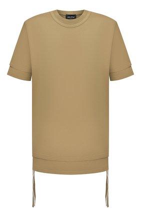 Мужская хлопковая футболка ANDREA YA'AQOV желтого цвета, арт. 21M0PI10 | Фото 1