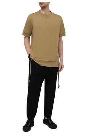 Мужская хлопковая футболка ANDREA YA'AQOV желтого цвета, арт. 21M0PI10 | Фото 2