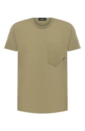 Мужская хлопковая футболка STONE ISLAND SHADOW PROJECT хаки цвета, арт. 741920610   Фото 1