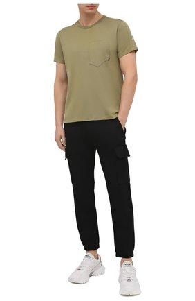 Мужская хлопковая футболка STONE ISLAND SHADOW PROJECT хаки цвета, арт. 741920610   Фото 2