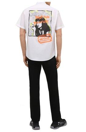 Мужская хлопковая рубашка COMME DES FUCKDOWN белого цвета, арт. CDFU1197 | Фото 2
