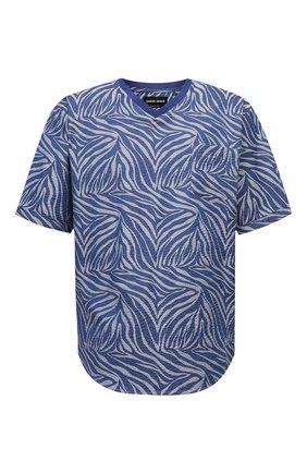 Мужская хлопковая футболка GIORGIO ARMANI синего цвета, арт. 1SGCCZ59/TZ872 | Фото 1