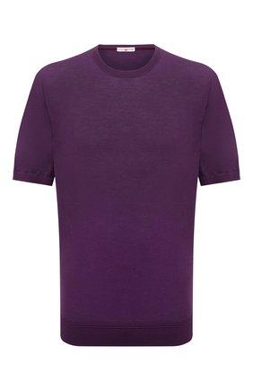 Мужской хлопковый джемпер LUCIANO BARBERA фиолетового цвета, арт. 109667/52028/58-62 | Фото 1