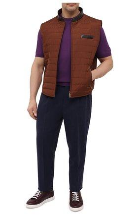 Мужской хлопковый джемпер LUCIANO BARBERA фиолетового цвета, арт. 109667/52028/58-62 | Фото 2