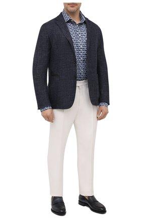 Мужская хлопковая рубашка ETON синего цвета, арт. 1000 02233 | Фото 2