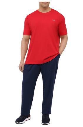 Мужская хлопковая футболка PAUL&SHARK красного цвета, арт. C0P1092/C00/3XL-6XL | Фото 2
