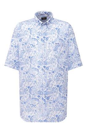 Мужская льняная рубашка PAUL&SHARK голубого цвета, арт. 21413427/F7E | Фото 1