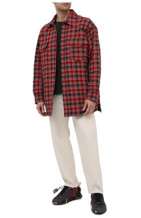 Мужская хлопковая футболка OFF-WHITE хаки цвета, арт. 0MAA027S21JER012   Фото 2