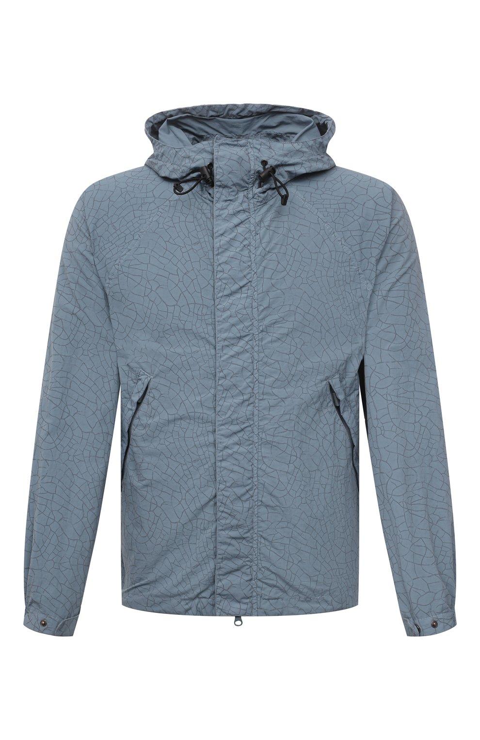 Мужская куртка ASPESI бирюзового цвета, арт. S1 I I116 G402   Фото 1 (Кросс-КТ: Куртка, Ветровка; Рукава: Длинные; Материал внешний: Синтетический материал; Длина (верхняя одежда): Короткие; Стили: Кэжуэл)