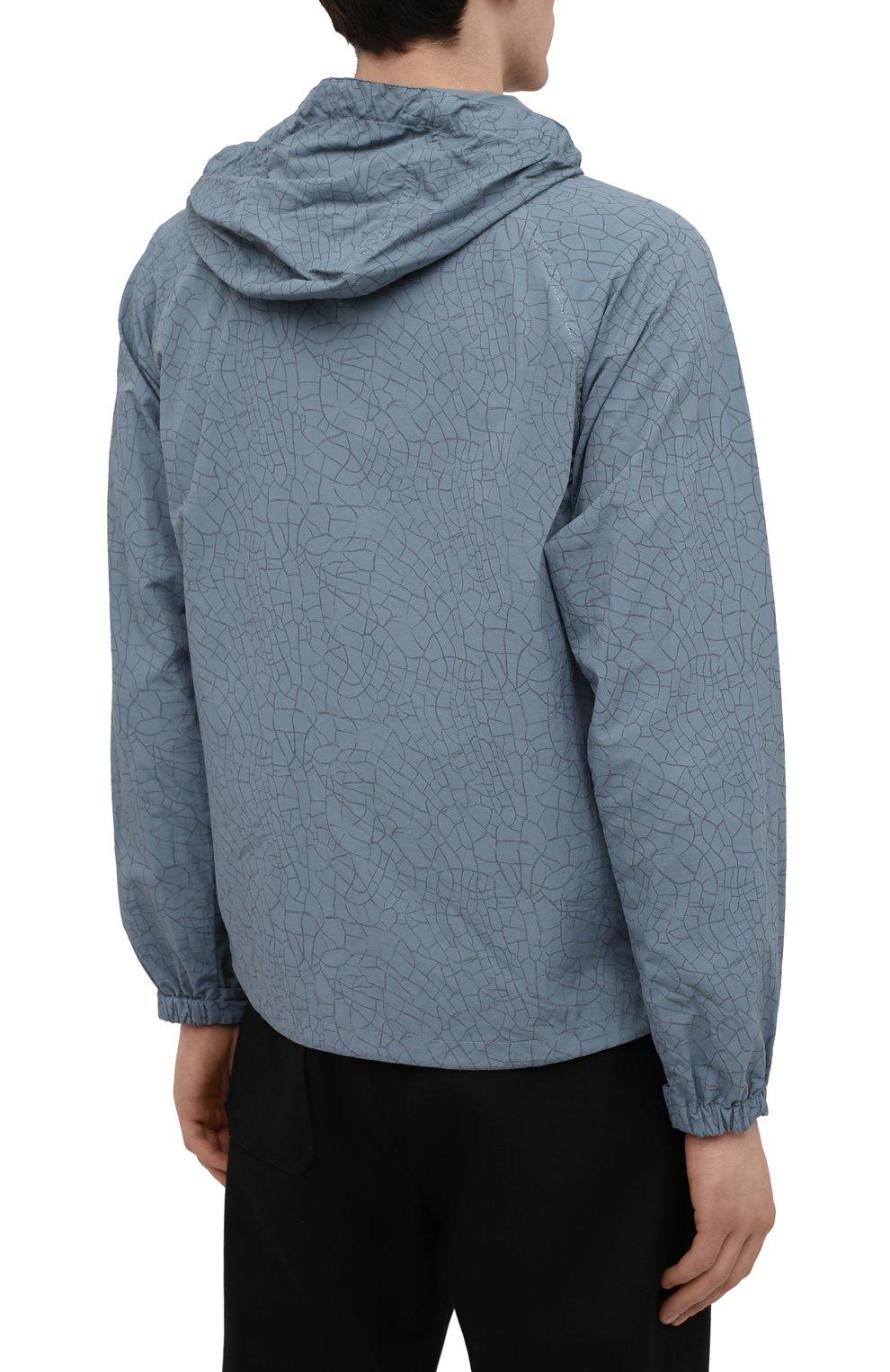 Мужская куртка ASPESI бирюзового цвета, арт. S1 I I116 G402   Фото 4 (Кросс-КТ: Куртка, Ветровка; Рукава: Длинные; Материал внешний: Синтетический материал; Длина (верхняя одежда): Короткие; Стили: Кэжуэл)