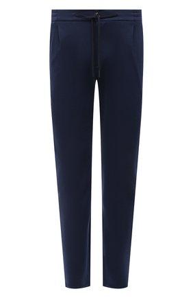 Мужские шерстяные брюки CANALI темно-синего цвета, арт. BJ902/JY01982   Фото 1