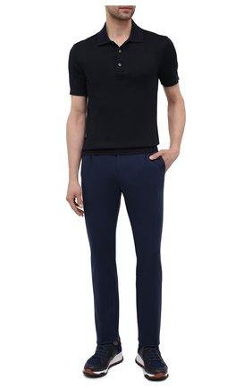 Мужские шерстяные брюки CANALI темно-синего цвета, арт. BJ902/JY01982   Фото 2