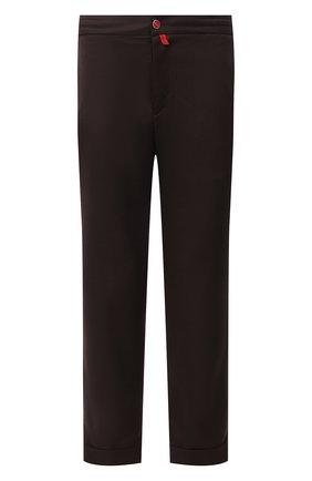 Мужские шерстяные брюки KITON коричневого цвета, арт. UFPLACJ07T46 | Фото 1 (Материал внешний: Шерсть; Длина (брюки, джинсы): Стандартные; Случай: Повседневный; Стили: Кэжуэл)