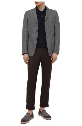 Мужские шерстяные брюки KITON коричневого цвета, арт. UFPLACJ07T46 | Фото 2 (Материал внешний: Шерсть; Длина (брюки, джинсы): Стандартные; Случай: Повседневный; Стили: Кэжуэл)