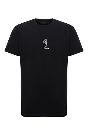 Мужская хлопковая футболка RELIGION черного цвета, арт. 11BGWN96   Фото 1